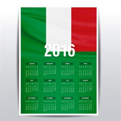 Calendario De Italia Calendario De Italia De 2016 Descargar Vectores Gratis
