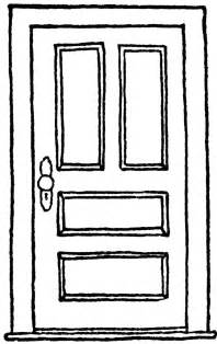 front door template closed hinged door clipart etc