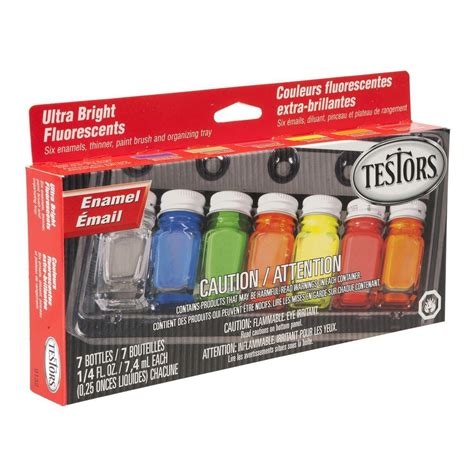 testors 0 25 oz 6 color fluorescent enamel paint set 6 pack 9132x the home depot