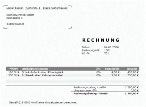 Vorlage Rechnung Ohne Umsatzsteuer 9 Rechnung Ohne Umsatzsteuer Muster Sponsorshipletterr