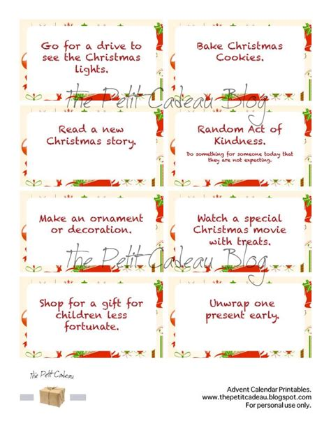 printable advent calendar pinterest activities advent calendar 3 in the spirit of