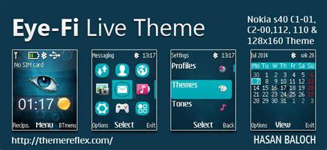 live themes nokia c1 eye fi live theme for nokia c1 01 c1 02 c2 00 107 108