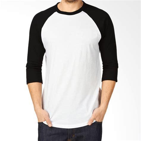 T Shirt Wanita Kaos Crop Polos Tangan 3 4 Zhenit Collection jual kaosyes kaos polos t shirt raglan lengan 3 4 putih hitam harga kualitas