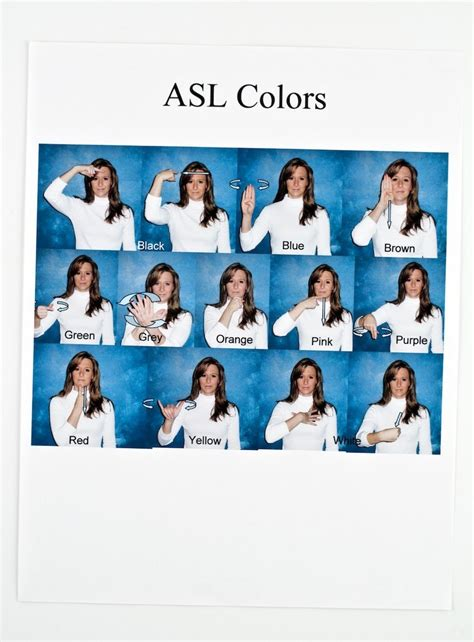 asl colors asl colors printable related keywords asl colors