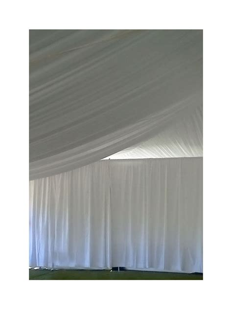 white pipe and drape pipe and drape white duvetyne 10 high per ft