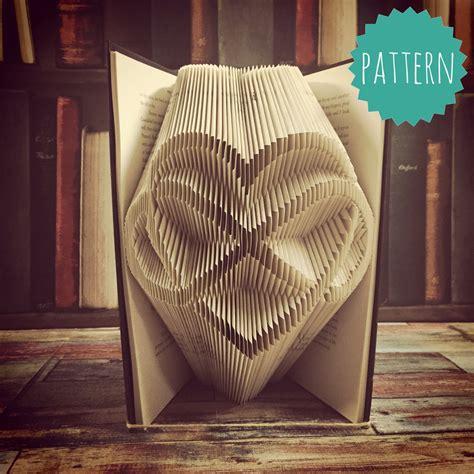 folded book art pattern heart folded book art infinity heart pattern tutorial gift home