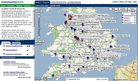 map uk football clubs mapping news by mapperz