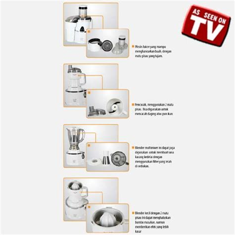 Juicer Di Jaco power juicer kitchen 7 in 1 indo home shopping