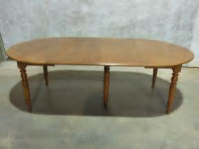 fruitwood and beech extending dining table