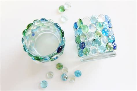 glass bead author glass bead candle holders dollar store crafts