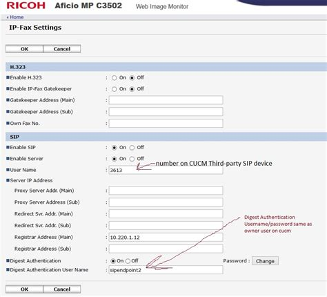 number mp cucm 7 1 help configuring ricoh ip fa cisco support