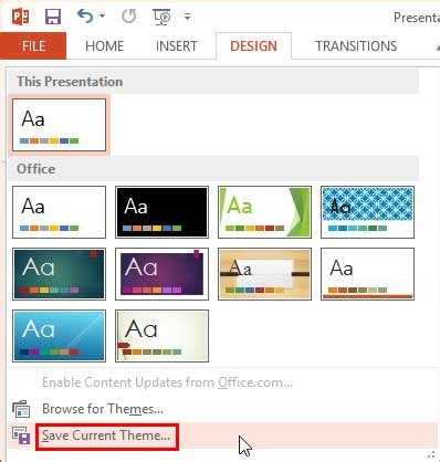 Set Standard 4 3 Aspect Ratio As Default In Powerpoint 2013 For Windows Convert Theme To Template