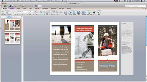 design brochure using powerpoint how to make powerpoint brochure youtube
