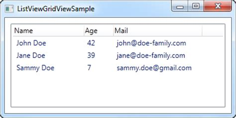 xaml listview layout how to listview with left aligned column names the
