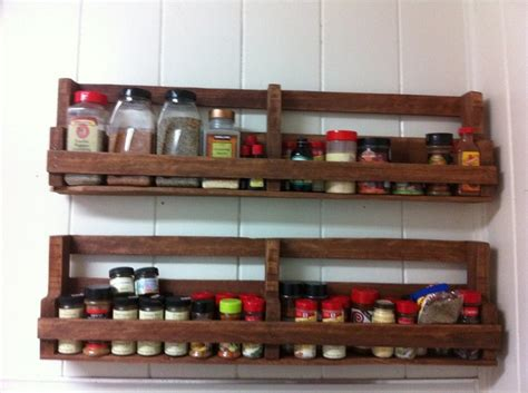 pallet spice racks for kitchen recycled things