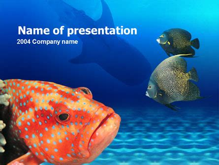 Fish In Aquarium Presentation Template For Powerpoint And Keynote Ppt Star Fish Powerpoint Template