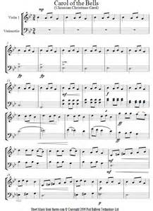 carol of the bells sheet music for violin cello duet