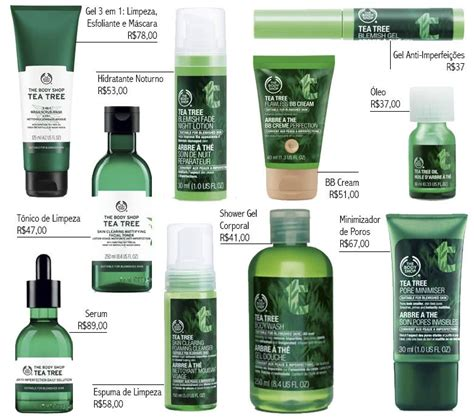 Tea Tree Gel The Shop linha tea tree the shop para peles oleosas
