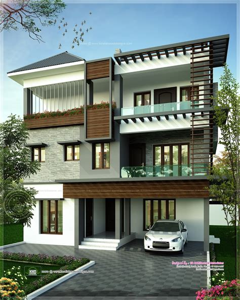 3 floor house design august 2013 kerala home design and floor plans