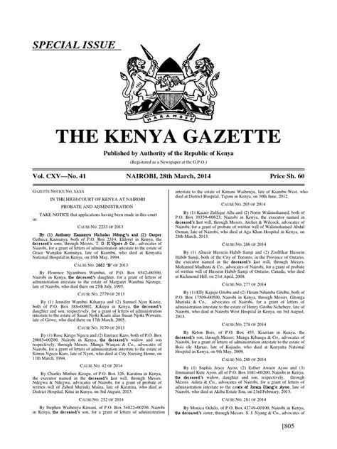 Kenya Letter Of Administration Volcxvno411