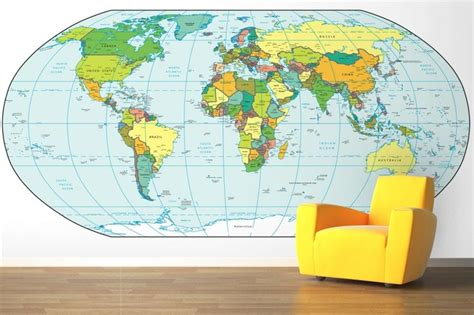 world map wallpaper murals world map wallpaper mural cool map pinterest