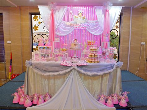 backdrop design birthday party backdrop and dessert candy table for a heavenly little