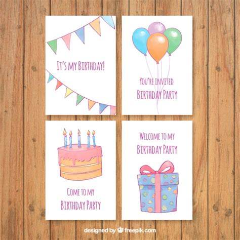 Simple Watercolor Birthday Card