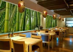 small restaurant interior design ideas with bamboo wall