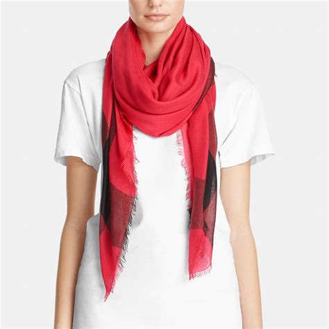 couch scarf lyst coach lightweight windowpane challis scarf in red
