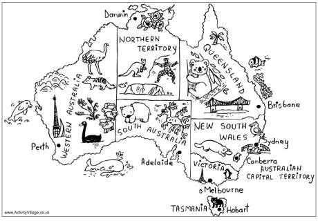 city map coloring page australia map colouring page free printable city territory