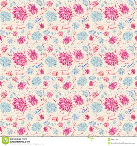 pink watercolor pattern vintage watercolor pattern stock illustration image