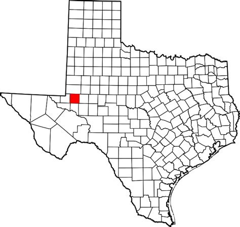Ector County Search File Map Of Highlighting Ector County Svg