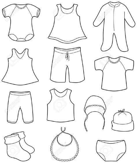 Baby Clothes For Girls Clipart 79