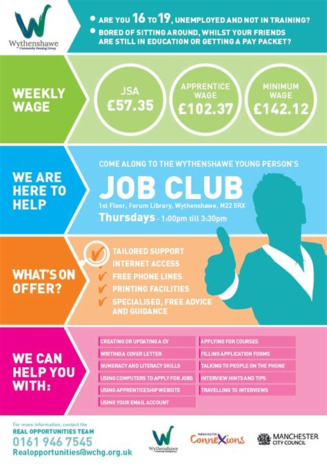 Club Flyer Design Jobs | the wythenshawe job club wchg