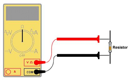 measure resistor with multimeter measuring current voltage and resistance