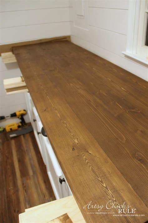 easy diy wood countertops how to make diy wood countertops 12 artsychicksrule artsy rule 174