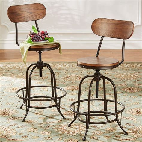 swival bar stools homesullivan olson industrial 24 in brown swivel bar