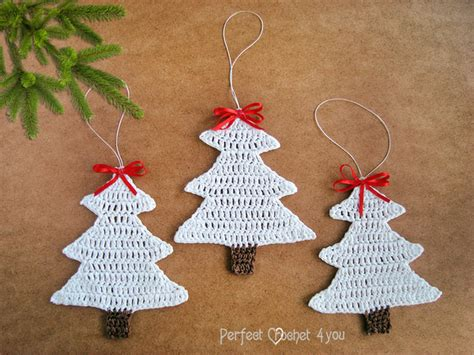 crochet christmas tree decoration white christmas tree