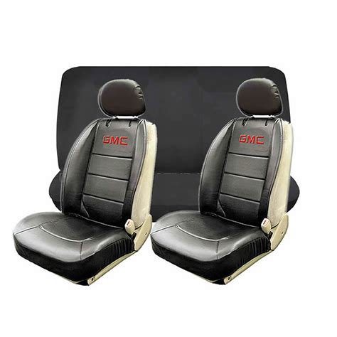 gmc bench seat covers 11pc gmc elite black red seat covers rubber floor mats