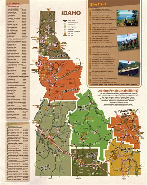 idaho map usa idaho tourist map