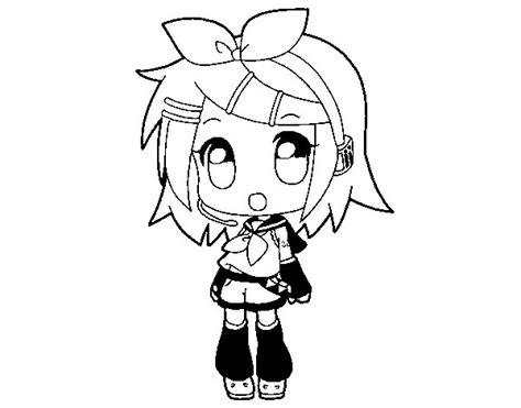 imagenes de hatsune miku kawaii para colorear dibujo de rin para colorear dibujos net