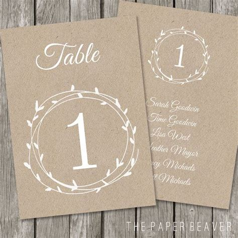 free table numbers for wedding reception templates 53 best table tents for c images on frames
