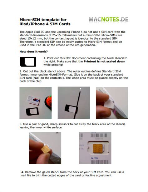 sim card pdf template micro sim card template 12 free printable sle
