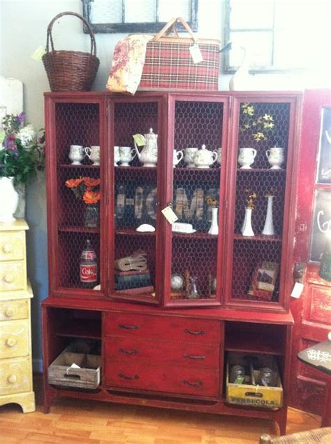 mid century modern china cabinet makeover by the shabby