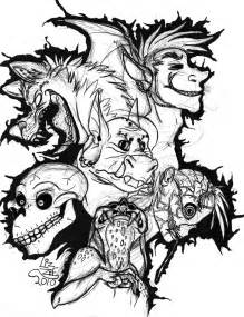 scary coloring pages dash of panda scary monsters and creeps