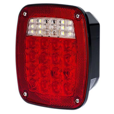 universal led tail lights multi function led truck trailer lights combo box w