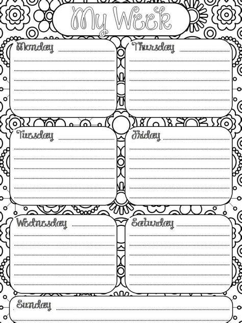 coloring book planner best 25 weekly planner printable ideas on