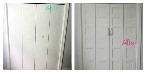 door makeover remodelaholic bi fold to paneled french door closet makeover