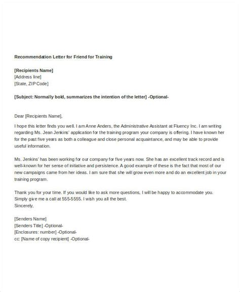 certification recommendation letter 37 simple recommendation letter template free word pdf