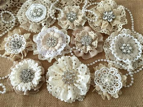 how to make shabby chic flowers out of fabric best 20 vintage lace crafts ideas on